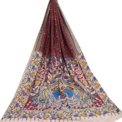 Cotton Kalamkari- Multicolored with Floral print