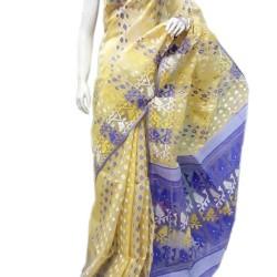 Dhakai - Off White and Blue