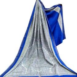 Matka Silk- Madhubani Print Blue