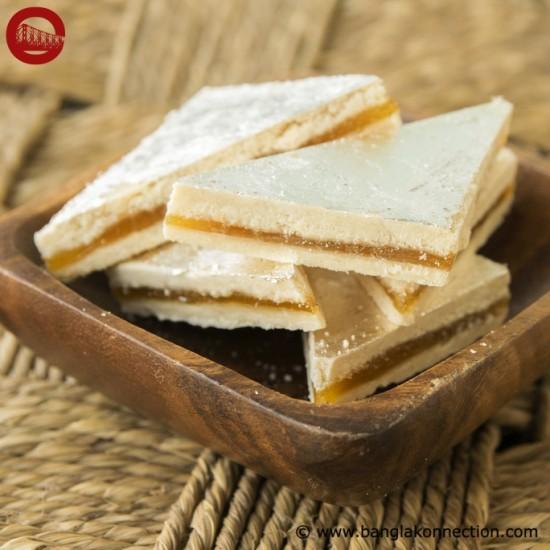Hindusthan Sweets- Mango Sandwich Barfi (15 pcs)